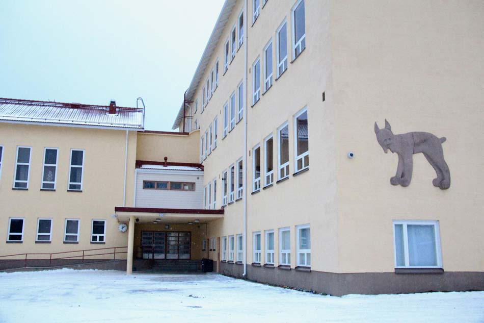 a picture of Aitoo School during the winter