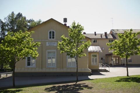 a picture of Kostia School during the spring
