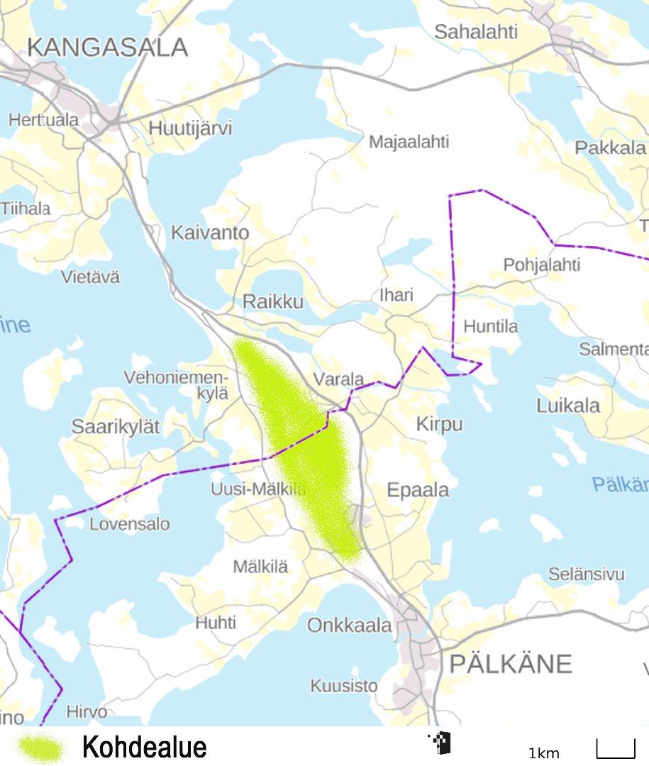 Retkeilyalueet Palkane