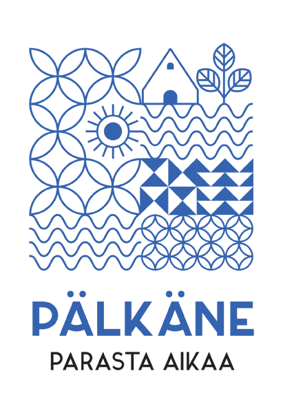 """pälkäne the best time"" is a travel logo"