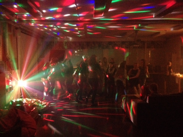 a picture of a disco party